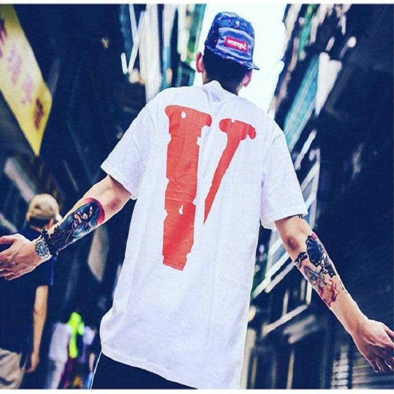 100% Cotton Streetwear VLONE Men T Shirt