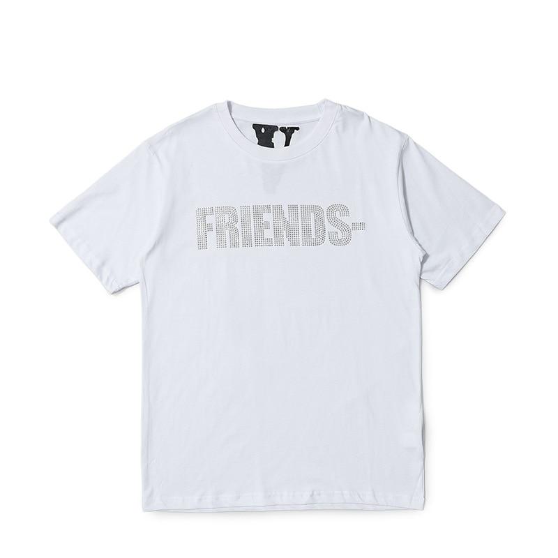 VLONE V Letter Cotton T Shirt
