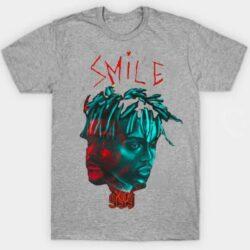 Juice WRLD X The Weekend Smile 999 T-Shirts grey